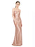 Mila Gowns Nalani Long A-Line Sweetheart Sequin Rose Gold Bridesmaid Dress 174317