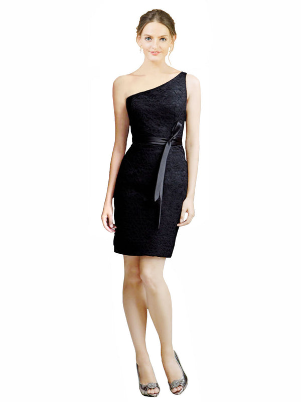 Mila Gowns Short Casey Black Bridesmaid Dress