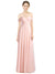 Mila Gowns Long Breanna A-Line Sweetheart and Spaghetti Straps and Off the Shoulder Ice Pink Bridesmaid Dress