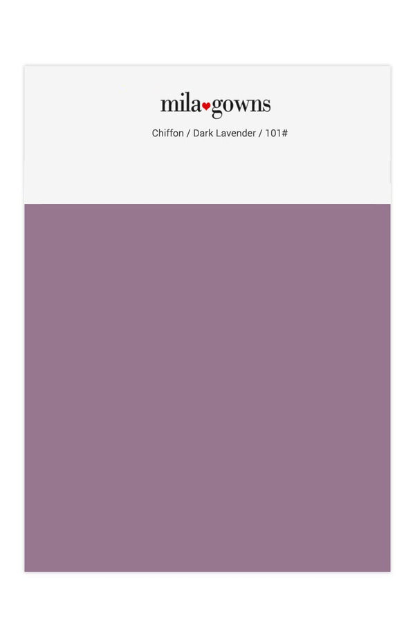 Mila Gowns Chiffon Color Swatches - Dark Lavender