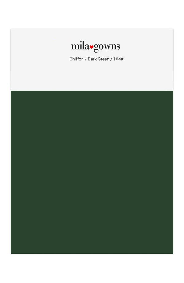 Mila Gowns Chiffon Color Swatches - Dark Green