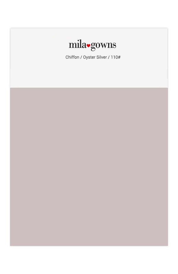 Mila Gowns Chiffon Color Swatches - Oyster Silver