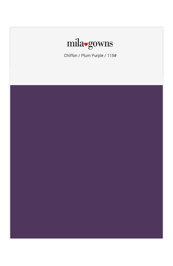 Mila Gowns Chiffon Color Swatches - Plum Purple