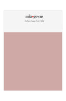 Mila Gowns Chiffon Color Swatches - Dusty Pink