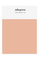 Mila Gowns Chiffon Color Swatches - Blush Pink