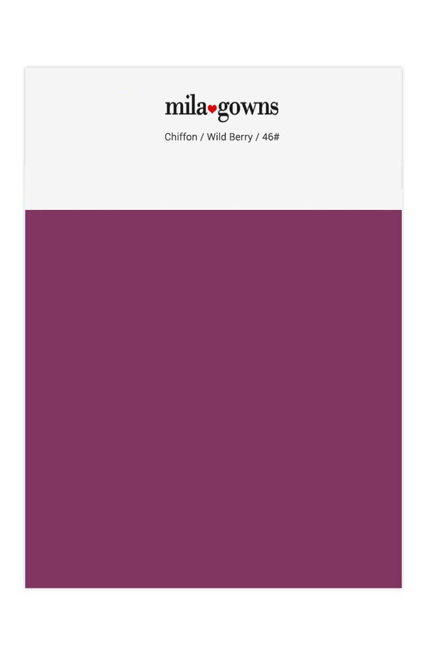 Mila Gowns Chiffon Color Swatches - Wild Berry