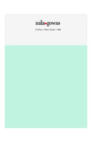 Mila Gowns Chiffon Color Swatches - Mint Green