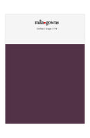 Mila Gowns Chiffon Color Swatches - Grape
