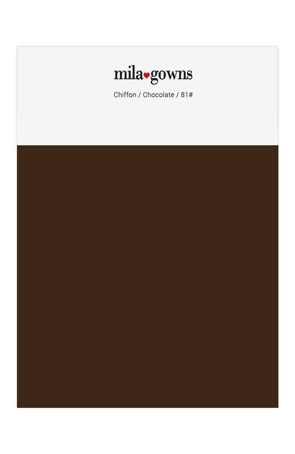 Mila Gowns Chiffon Color Swatches - Chocolate