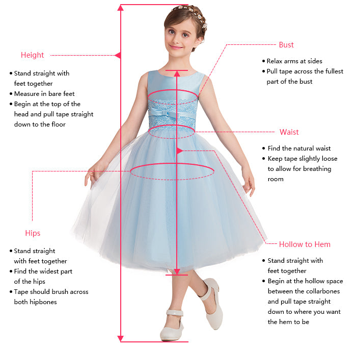 Measuring Guide for Flower Girl Dresses