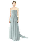 Mila Gowns Emily Long A-Line Sweetheart Chiffon Seaside Bridesmaid Dress Floor Length Open Back Sleeveless 174028