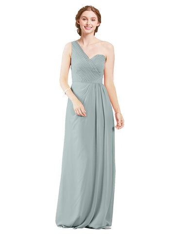 Mila Gowns Harper Long A-Line One Shoulder Sweetheart Chiffon Seaside Bridesmaid Dress Floor Length Sleeveless 174027