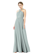 Mila Gowns Isabella Long A-Line V-Neck Chiffon Seaside Bridesmaid Dress Floor Length Sleeveless 174021