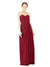 Mila Gowns Natalie Long A-Line Sweetheart Lace Burgundy Bridesmaid Dress Floor Length Open Back Sleeveless 174051