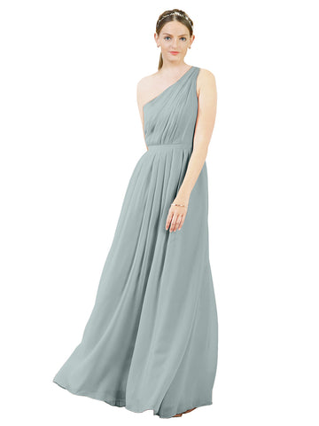 Mila Gowns Olivia Long A-Line One Shoulder Chiffon Seaside Bridesmaid Dress Floor Length Sleeveless 174019