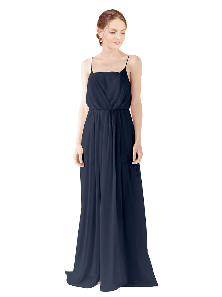 Mila Gowns Bridesmaid Dress Victoria in Dark Navy Color – MilaGowns.com 291989b70