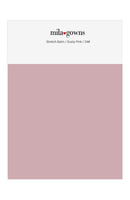 Mila Gowns Strech Satin Color Swatches - Dusty Pink