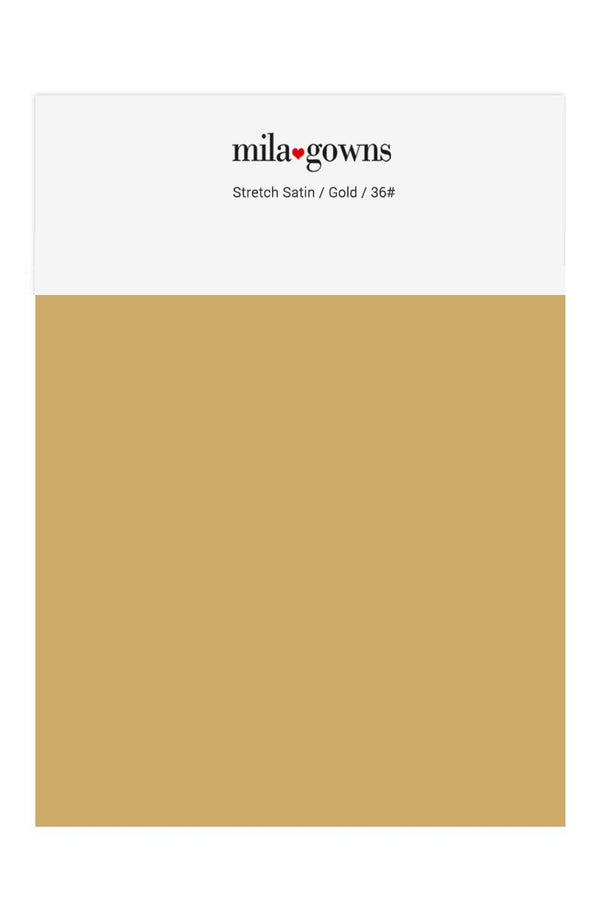 Mila Gowns Strech Satin Color Swatches - Gold