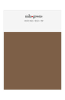 Mila Gowns Strech Satin Color Swatches - Brown