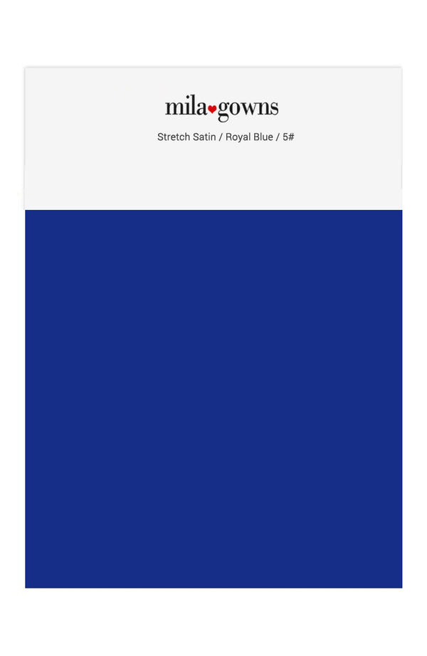 Mila Gowns Strech Satin Color Swatches - Royal Blue