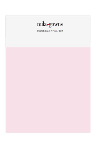 Mila Gowns Strech Satin Color Swatches - Pink