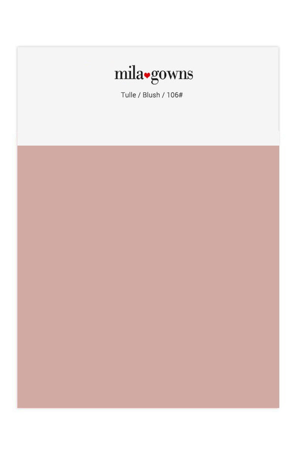 Mila Gowns Tulle Color Swatches - Blush
