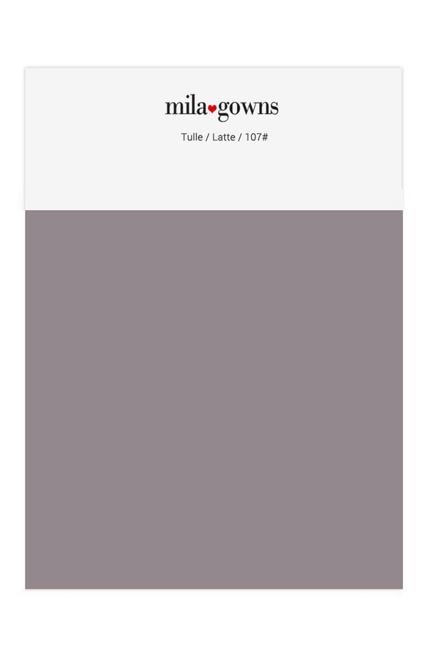 Mila Gowns Tulle Color Swatches - Latte