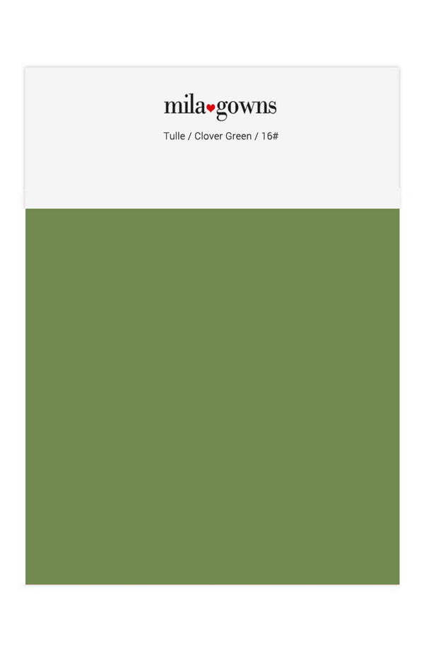 Mila Gowns Tulle Color Swatches - Clover Green