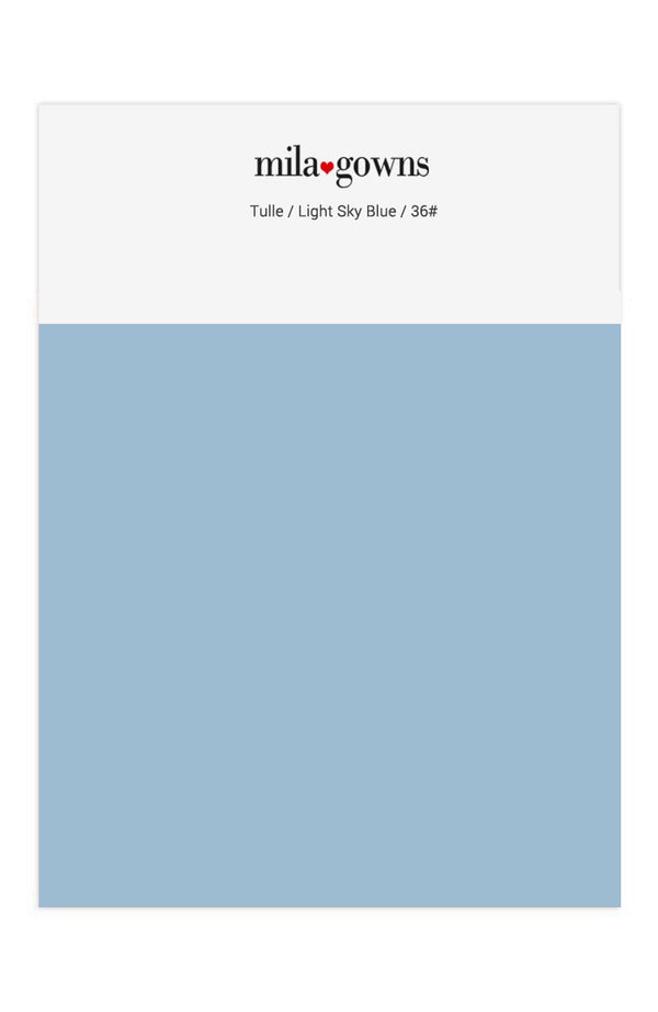 Mila Gowns Tulle Color Swatches - Light Sky Blue