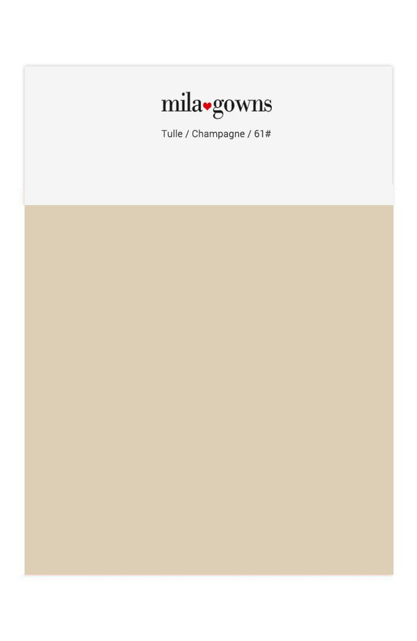 Mila Gowns Tulle Color Swatches - Champagne