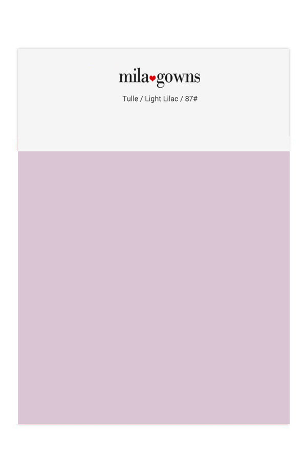 Mila Gowns Tulle Color Swatches - Light Lilac