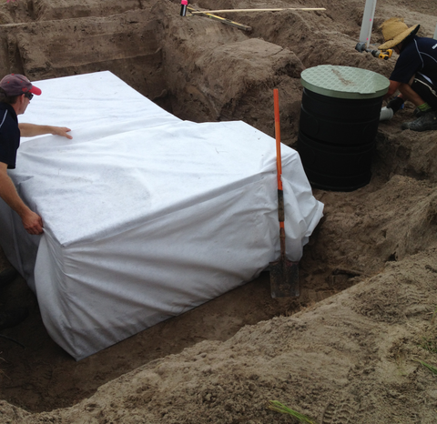 matrix tank wrapped in geotextile