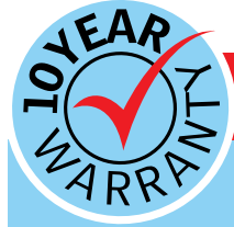 10 year warranty graphic