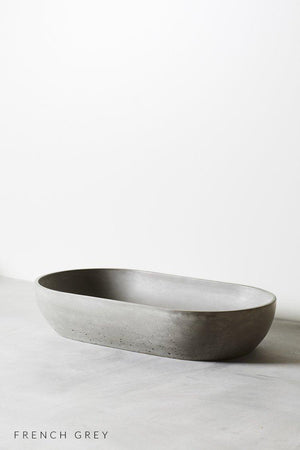 French Grey coloured Arc concrete basin