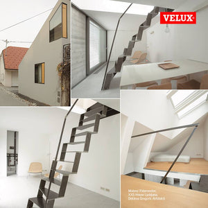 Unique home designed with pitched Velux skylights