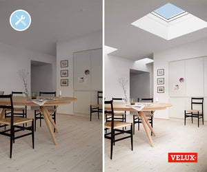 The before and after of the skylight inclusion