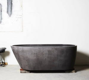 Oasis Concrete Bath Dark charcoal