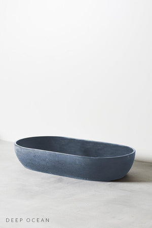 Deep Ocean coloured Arc concrete basin