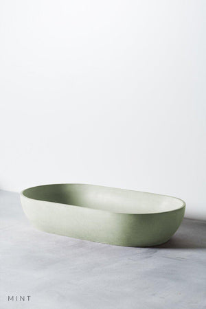 Mint coloured Arc concrete basin