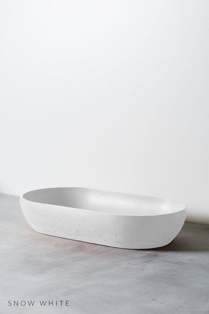 Snow White coloured Arc concrete basin