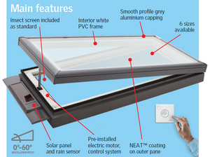 VCS solar skylight features