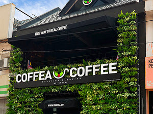 Coffea and coffee using our gro wall pro for their front of store garden