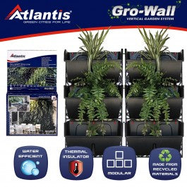 Atlantis Gro wall slim line illustration of the vertical garden concept