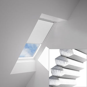 Velux honeycomb blinds close up