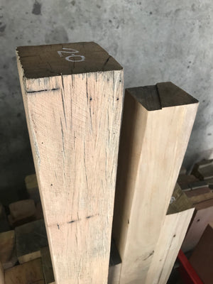 Recycled square timber posts