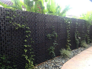 52mm outdoor privacy screen with vines