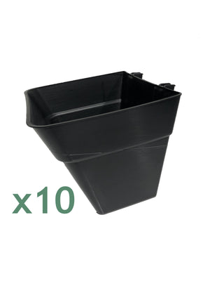 x10 Green Wall Pots