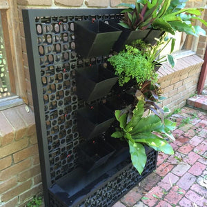 Aluminium framed grow wall pots