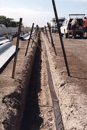 Flo pipe installed in trench