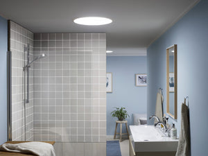 Bathroom with round skylight